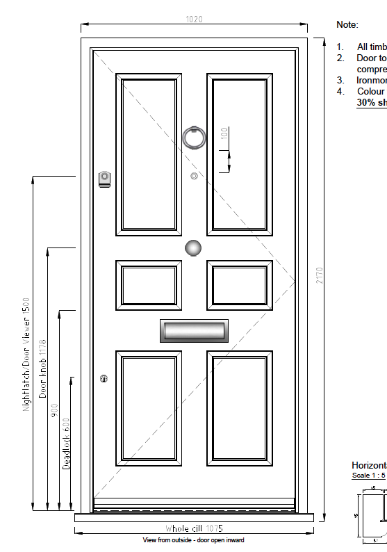 Front Door Drawing For Bespoke Contemporary Doors Georgian Period u2022 London And Surrey The Front Door Co